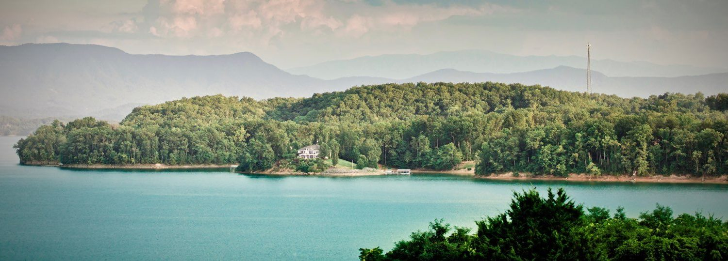 A view of Jefferson County looking over Douglas Lake