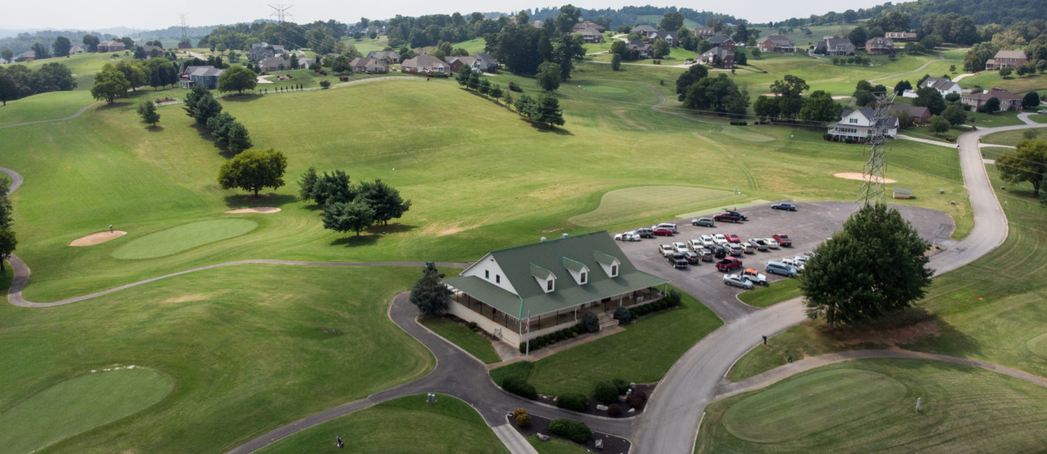 Jefferson County aerial view of golf course