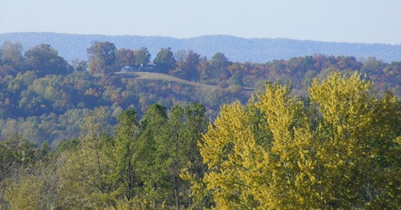 Rolling hills of Jefferson County TN