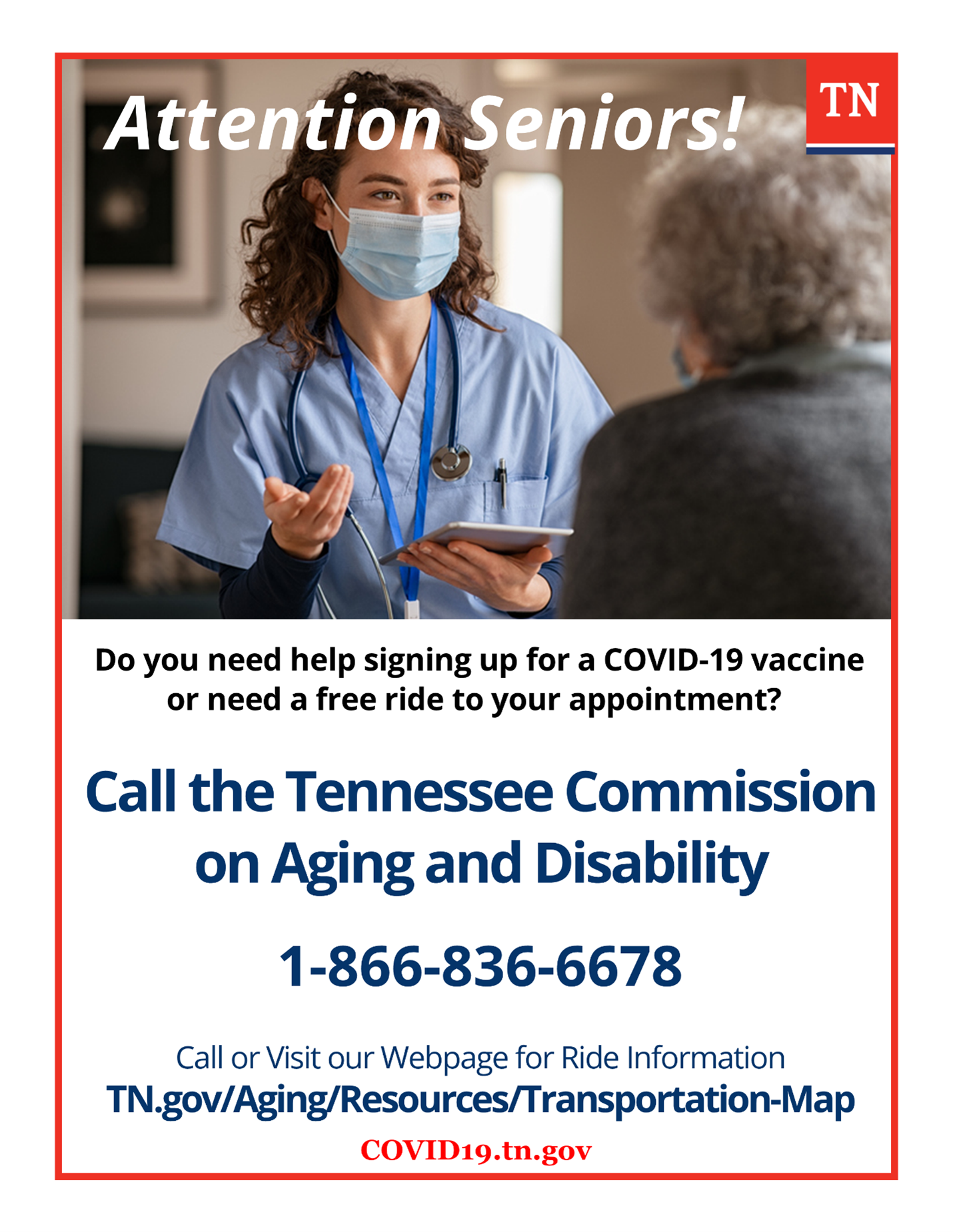 tennessee help for seniors looking for a covid vaccine