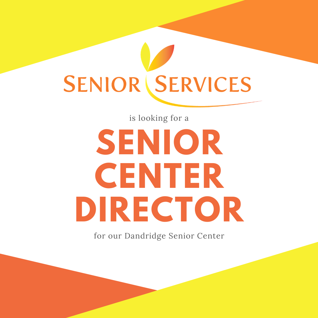 graphic announcing the opening for a senior center director in Jefferson County TN